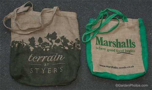 Hessian/Burlap bags, used every week for the supermarket shop. Image ©GardenPhotos.com (all rights reserved)