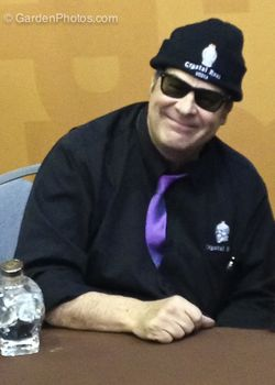 Dan Aykroyd promoting his Crystal Head vodka at the Philadelphia Flower Show. Image ©GardenPhotos.com